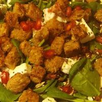 Salata de spanac cu rodie si feta