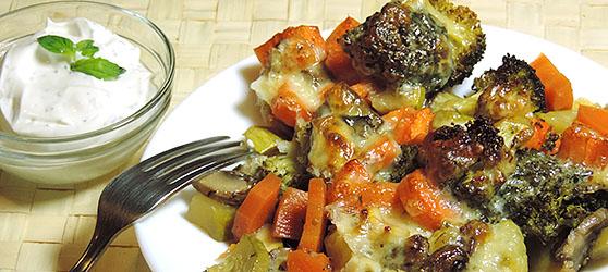 legume la cuptor cu parmezan photo