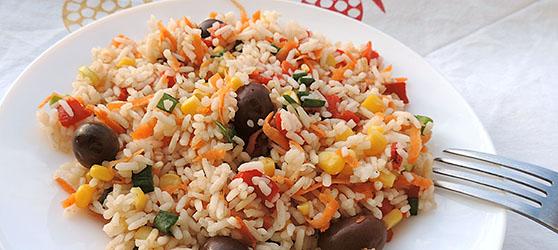 Salata colorata cu orez photo