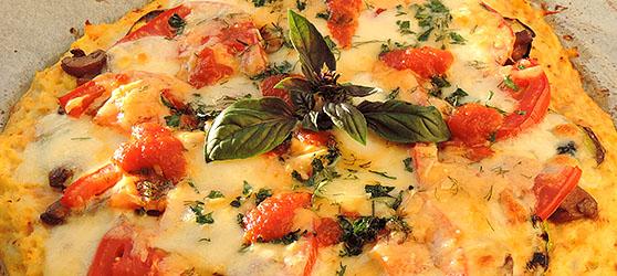 Pizza din legume cu blat de conopida photo