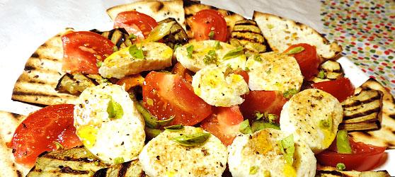 Salata cu vinete si mozarella photo
