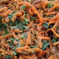 Salata cu linte si morcovi