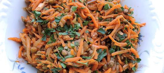 Salata cu linte si morcov photo