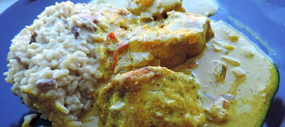 Curry de pui photo