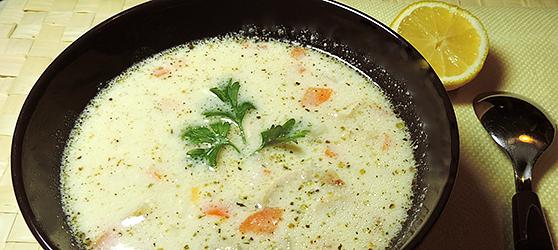 Supa de pui a la Grec photo