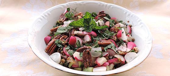 Salata de ridichi cu nuci photo