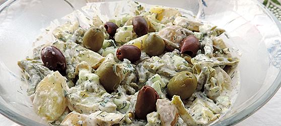 Salata de cartofi cu fasole verde si dressing de iaurt  photo