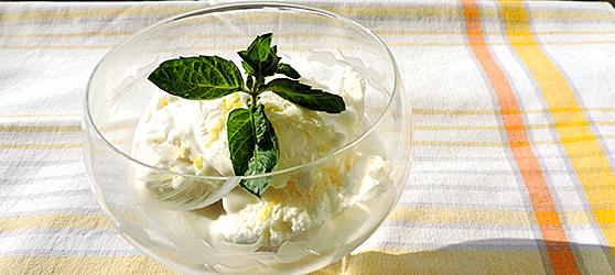Inghetata de iaurt cu lamaie photo