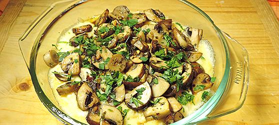 Mamaliga cu ciuperci aromate photo