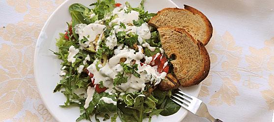 Salata de legume la grill si sos de branza albastra  photo