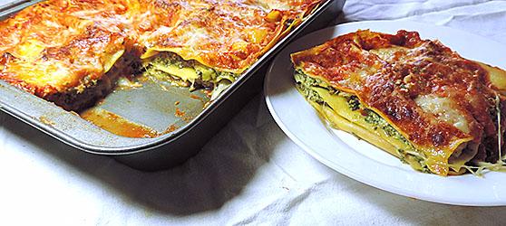 Lasagna Florentina cu legume la grill photo